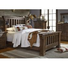 5/0 Queen Slat Bed - Tobacco Finish