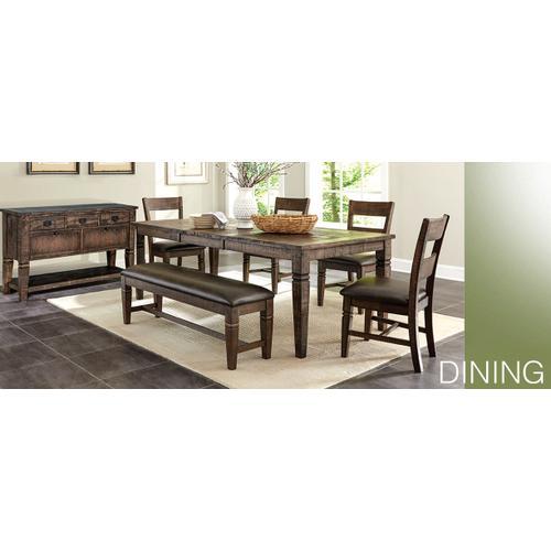 Sunny Designs - Homestead Ladderback Chair w/ Cushion Seat