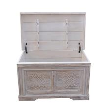 Storage Trunk - Whitewash Finish