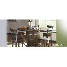 See Details - Round Pub Table/ Wine Barrel Base