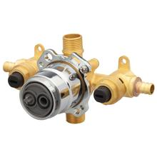New - Treysta® Tub & Shower Valve- Horizontal Inputs With Stops- Crimp Pex