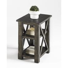 Chairside Table - Dark Birch Smoke Finish