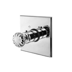 "Venetian Bronze 3/4"" Square Thermostatic Trim Plate with Handle"