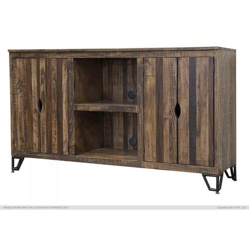 4 Drawer & Shelves, TV Stand for Wall Unit