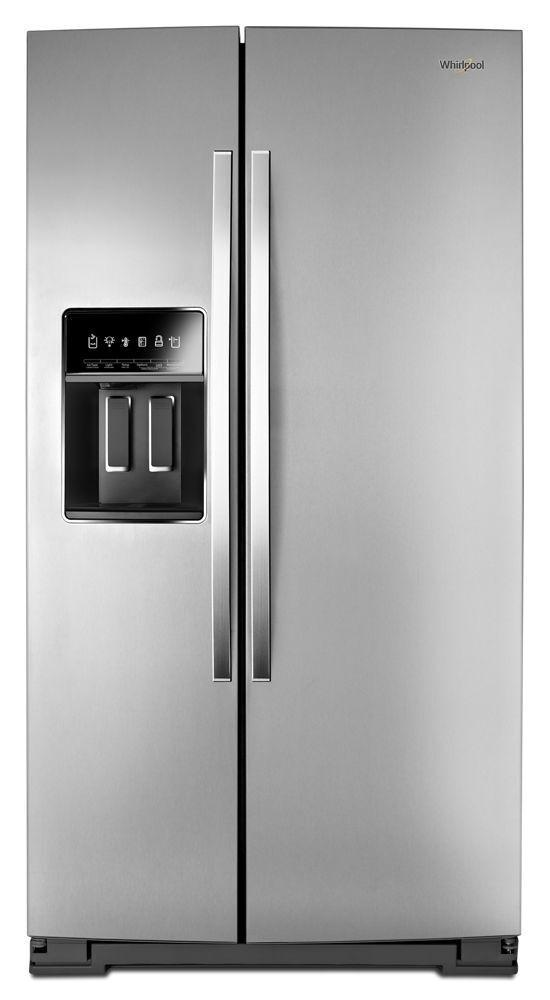 Whirlpool36-Inch Wide Side-By-Side Counter Depth Refrigerator - 20 Cu. Ft.