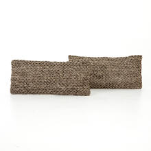 """12x28"""" Size Stone Braided Pillow, Set of 2"""