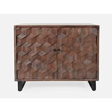 Geometrix 2 Door Accent Cabinet- D Platinum
