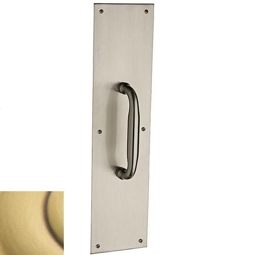Satin Brass and Brown 2560 Pull x 2124 Pull Plate
