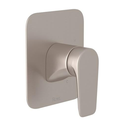 Satin Nickel Perrin & Rowe Hoxton Pressure Balance Trim Without Diverter with Hoxton Metal Lever