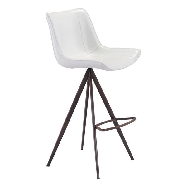 See Details - Aki Bar Chair White & Walnut