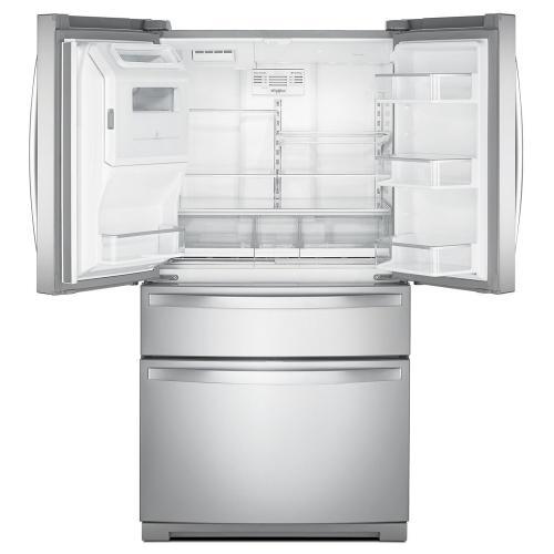 Whirlpool - 36-inch Wide 4-Door Refrigerator with Exterior Drawer - 26 cu. ft.