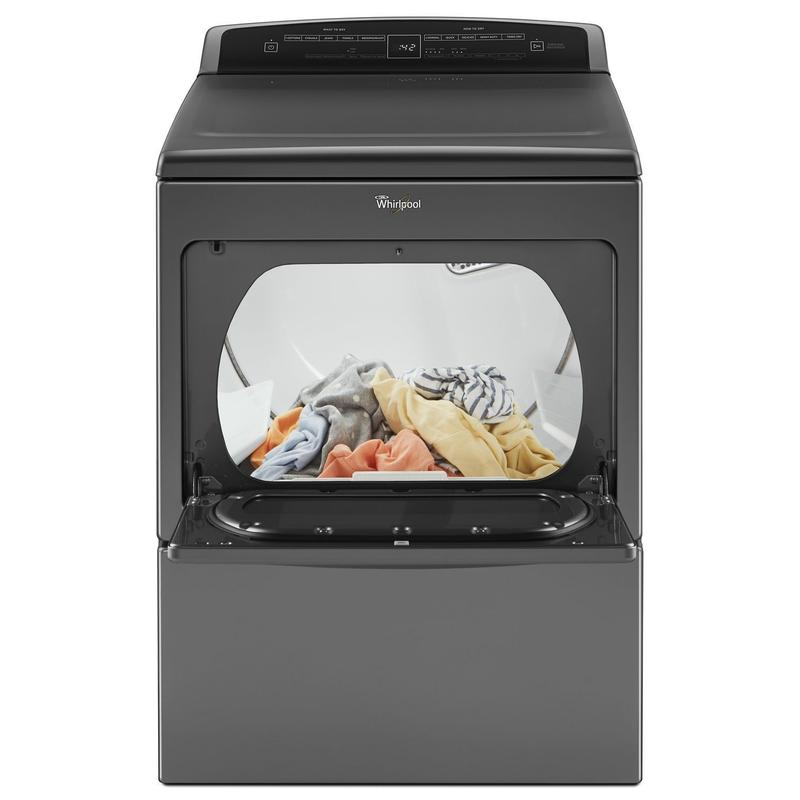 7.4 cu.ft Top Load HE Gas Dryer with AccuDry , Intuitive Touch Controls Chrome Shadow
