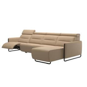 Stressless® Emily arm steel 3 seater Power left with Long Seat