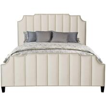 King-Sized Bayonne Upholstered Bed in Espresso