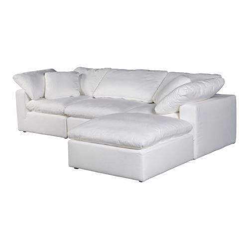 Moe's Home Collection - Terra Condo Lounge Modular Sectional Livesmart Fabric Cream