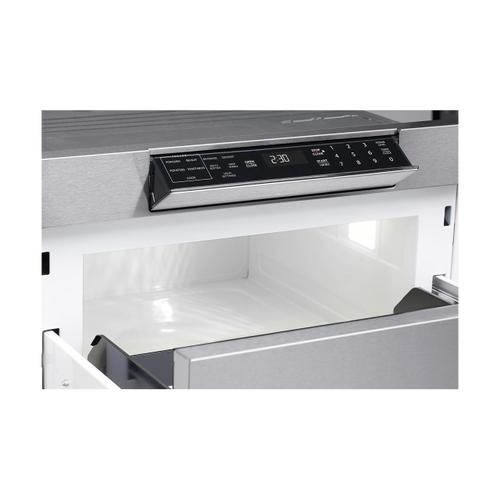 24 in. 1.2 cu. ft. 950W Sharp Stainless Steel Microwave Drawer