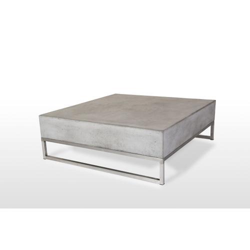 VIG Furniture - Modrest Drake Modern Square Concrete Coffee Table