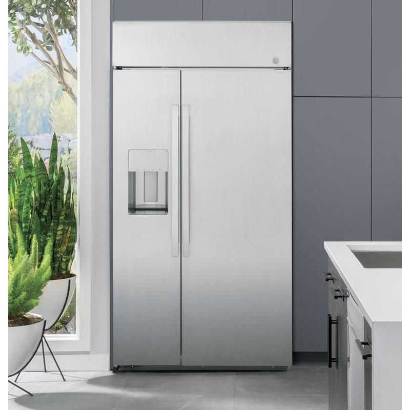 """GE Profile™ Series 42"""" Smart Built-In Side-by-Side Refrigerator with Dispenser"""