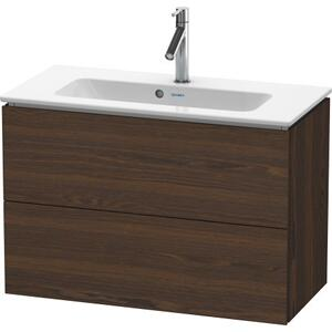 Vanity Unit Wall-mounted Compact, Brushed Walnut (real Wood Veneer)