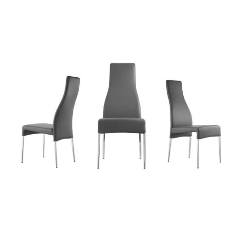 The Valentino Dark Gray Eco-leather Dining Chairs