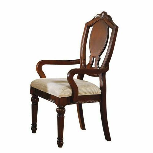 ACME Classique Arm Chair (Set-2) - 11834 - Cherry