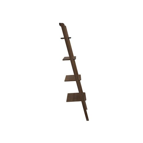 Greenington Fine Bamboo Furniture - Currant Leaning Bookshelf, Black Walnut