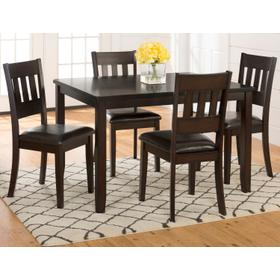 See Details - Dark Rustic Prairie Dining 5 Pack- Dining Table W/(4) Chairs
