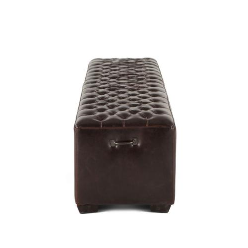 """D'Orsay 78"""" Upholstered Leather Bench"""