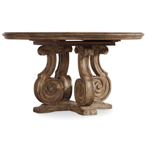 Dining Room Solana 54in Pedestal Dining Table w/1-20in Leaf
