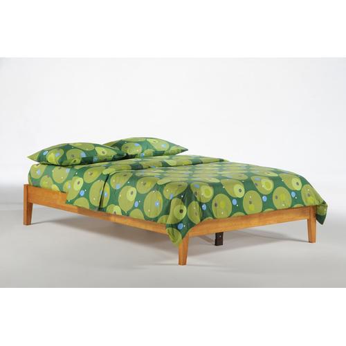 Gallery - P-Series Basic Bed in Medium Oak Finish