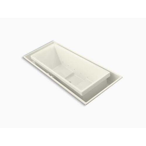 "Biscuit 104"" X 41"" Drop-in Effervescence Bath With Center Drain"