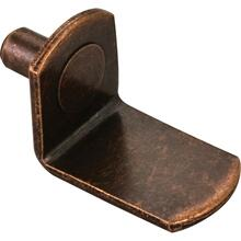 5 mm Angled Shelf Support without Hole Retail Pack. 20 Supports per Pack. Finish: Antique Copper