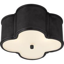 View Product - Alexa Hampton Basil 2 Light 11 inch Gun Metal Flush Mount Ceiling Light