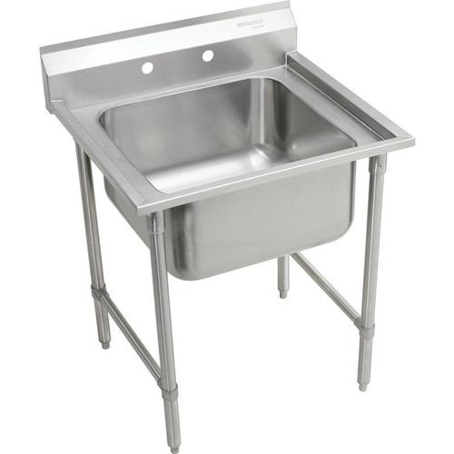 """Product Image - Elkay Rigidbilt Stainless Steel 27"""" x 29-3/4"""" x 12-3/4"""", Floor Mount, Single Compartment Scullery Sink"""