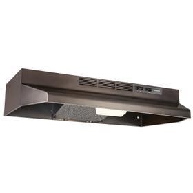 Broan® 30-Inch Convertible Under-Cabinet Range Hood, 160 CFM, Black Stainless Steel