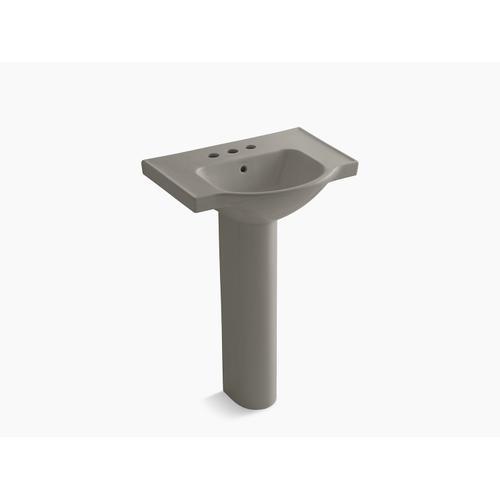 "Cashmere 24"" Pedestal Bathroom Sink With 4"" Centerset Faucet Holes"