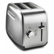 See Details - 2-Slice Toaster with manual lift lever - Brushed Stainless Steel