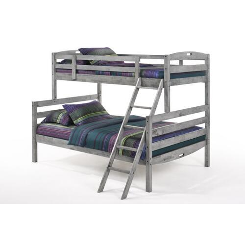 Sesame Twin Full Bunk in Rustic Gray Finish