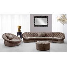 See Details - Divani Casa Cosmopolitan Mini - Transitional Acrylic Crystal Tufted Fabric Sofa Set