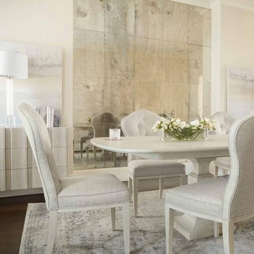 East Hampton Rectangular Dining Table in Cerused Linen (395)
