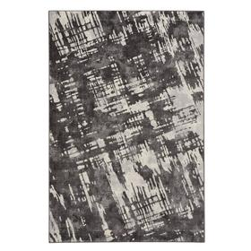 """Brushstrokes Charcoal - Rectangle - 3'11"""" x 5'6"""""""