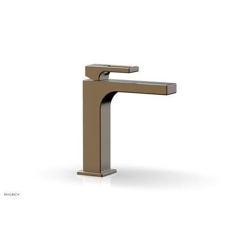 MIX Single Hole Lavatory Faucet, Ring Handle 290-07 - Antique Brass