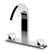"""3 holes basin mixer, one flange, with flexible tails, 1 1/4"""" pop-up waste."""