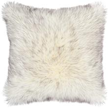 "Faux Fur Fl303 Grey 22"" X 22"" Throw Pillow"