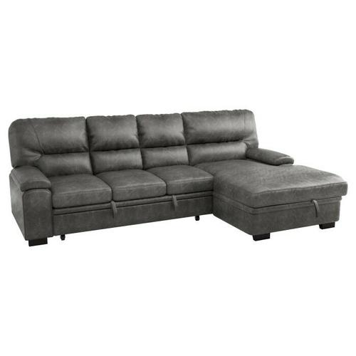 Homelegance - 2-Piece Sectional with Pull-out Bed and Right Chaise with Hidden Storage