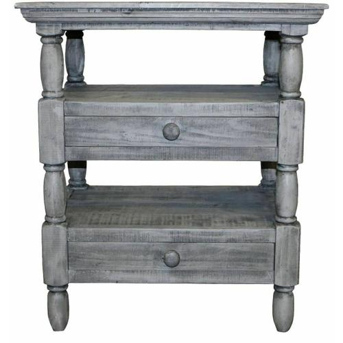 Million Dollar Rustic - Charcoal Gray 2 Dwr Cottage End