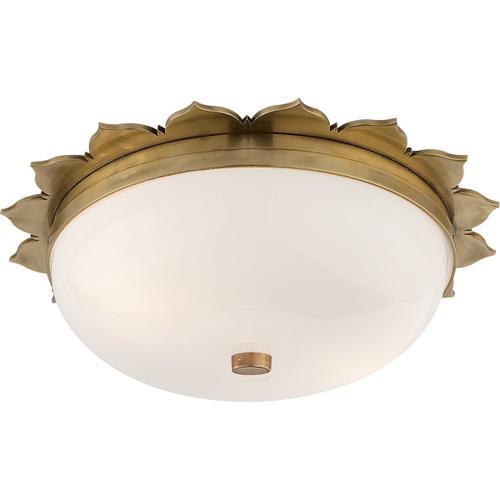 Alexa Hampton Rachel 2 Light 14 inch Natural Brass Flush Mount Ceiling Light