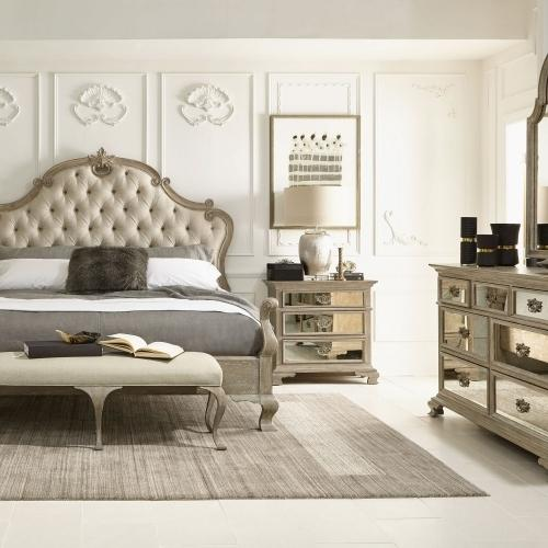 Product Image - King-Sized Campania Upholstered Panel Bed in Weathered Sand (370)