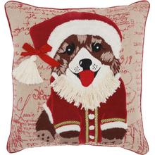 "Home for the Holiday St353 Multicolor 18"" X 18"" Throw Pillow"