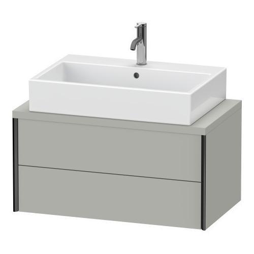 Vanity Unit For Console Compact, Concrete Gray Matte (decor)
